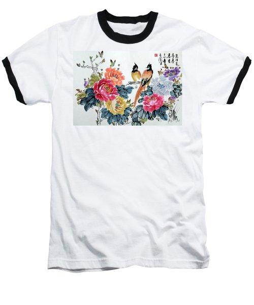 Harmony And Lasting Spring Baseball T-Shirt by Yufeng Wang