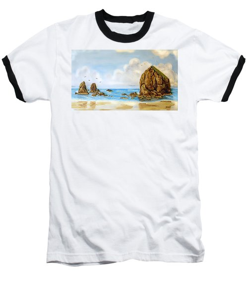 Baseball T-Shirt featuring the relief Haystack Relief by Wendy McKennon
