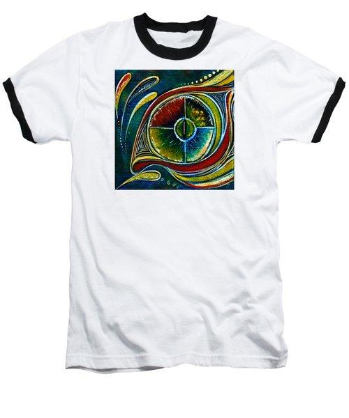 Baseball T-Shirt featuring the painting Healer Spirit Eye by Deborha Kerr