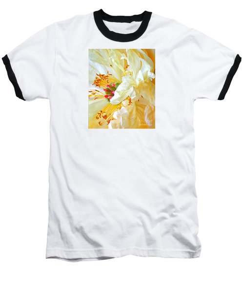 Heart Of Peony Baseball T-Shirt by Nareeta Martin