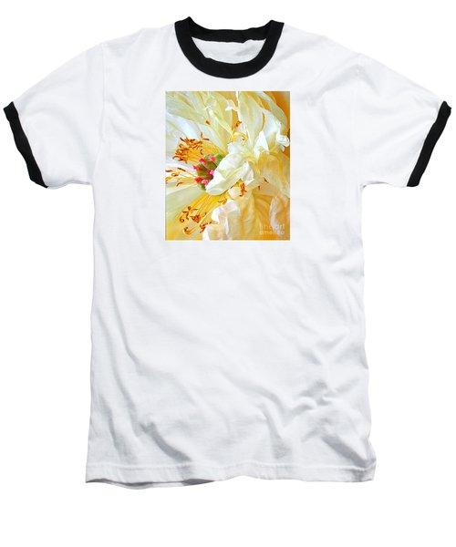 Baseball T-Shirt featuring the photograph Heart Of Peony by Nareeta Martin