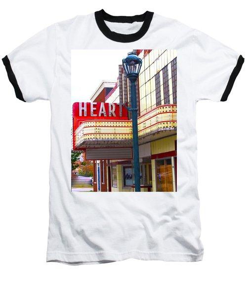 Heart Theatre Effingham Illinois  Baseball T-Shirt by Suzanne Lorenz