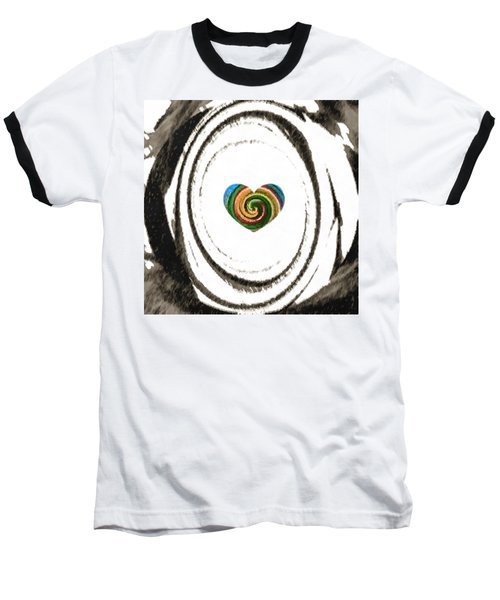 Baseball T-Shirt featuring the digital art Heart Within by Catherine Lott