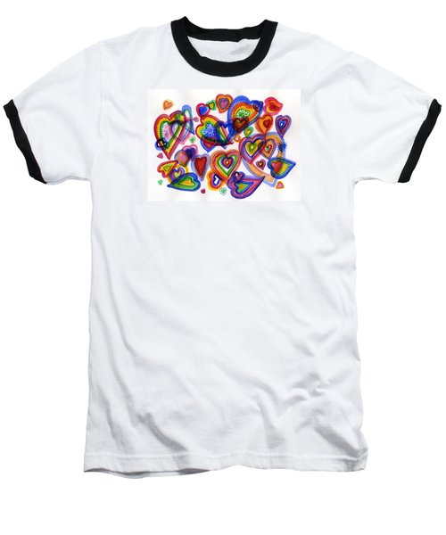Hearts Of Colour Baseball T-Shirt