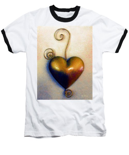 Heartswirls Baseball T-Shirt by RC deWinter