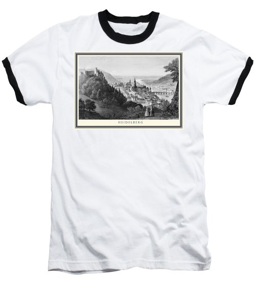 Heidelberg Etching Baseball T-Shirt by Rudi Prott