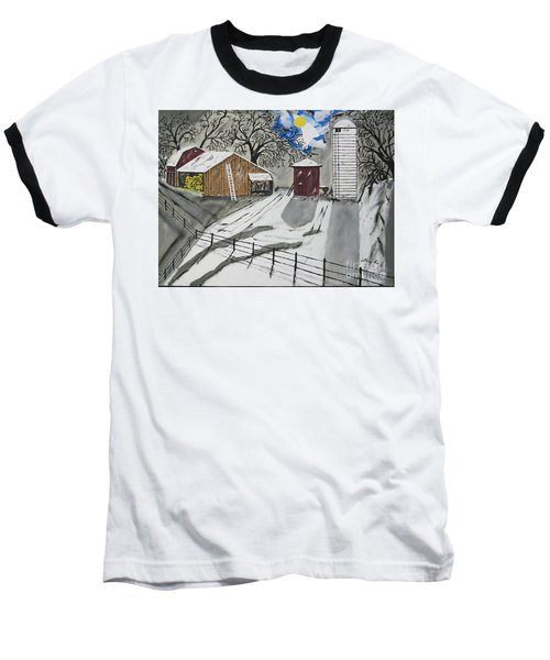 Baseball T-Shirt featuring the painting Here Comes The Sun by Jeffrey Koss