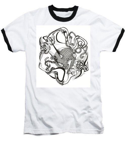 Hexagon Cats Baseball T-Shirt