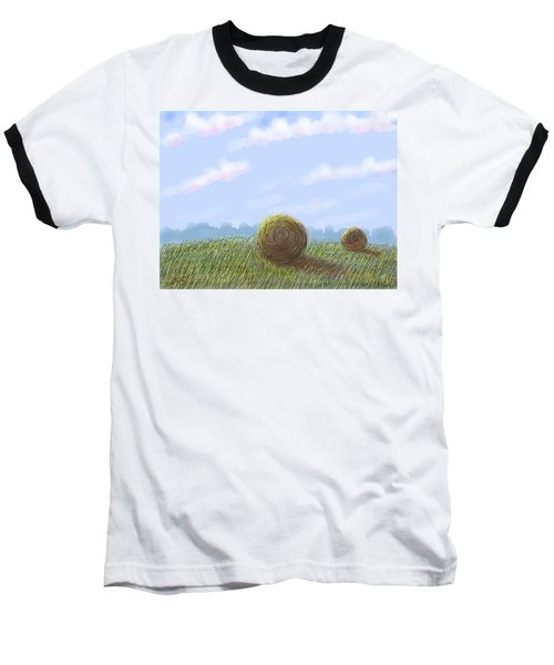 Hey I See Hay Baseball T-Shirt by Stacy C Bottoms
