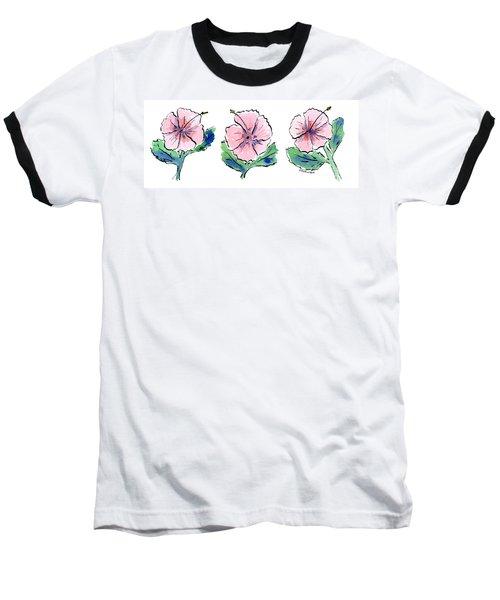 Hibiscus Trio Baseball T-Shirt