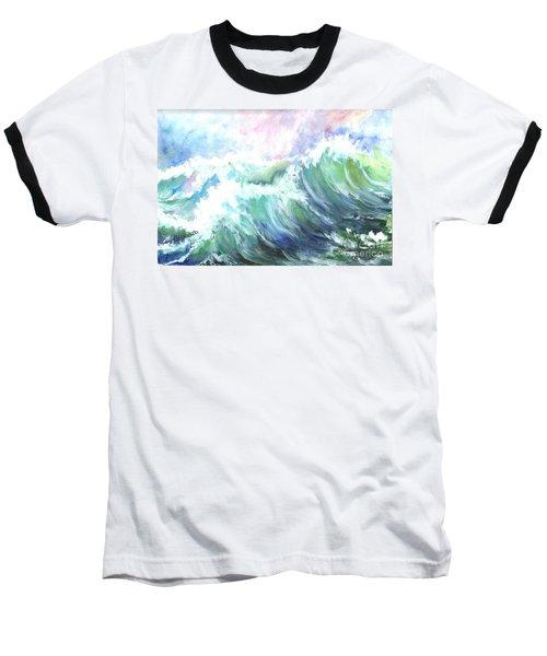 Baseball T-Shirt featuring the painting High Seas by Carol Wisniewski
