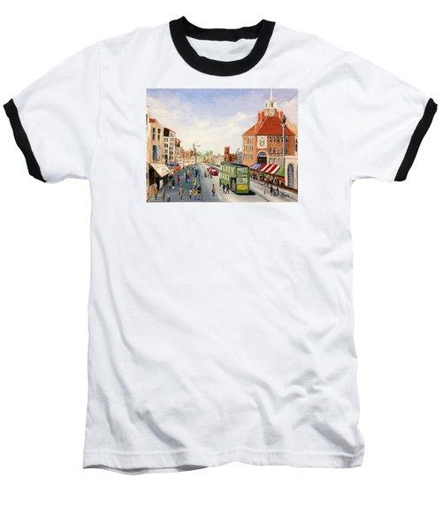 High Street Baseball T-Shirt by Helen Syron