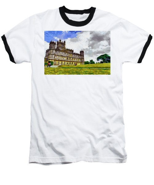 Baseball T-Shirt featuring the painting Highclere Castle by Georgi Dimitrov