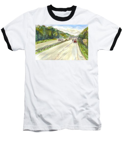 Highway 95 Baseball T-Shirt by Clara Sue Beym
