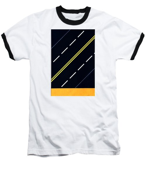Highway Baseball T-Shirt by Thomas Gronowski