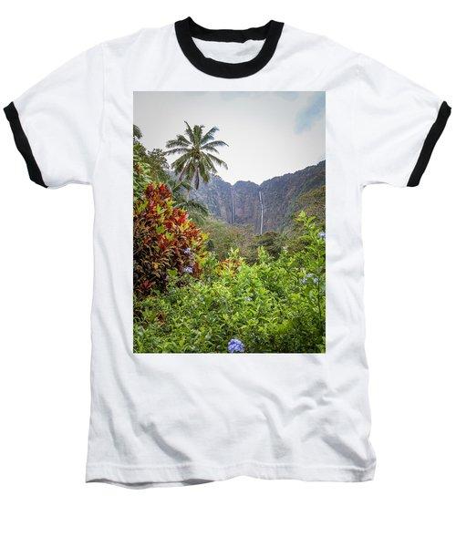 Hiilawe And Hakalaoa Falls Baseball T-Shirt
