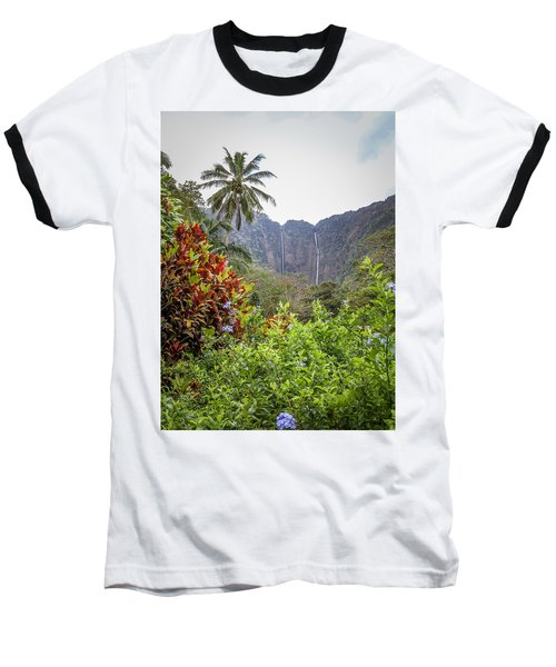 Hiilawe And Hakalaoa Falls Baseball T-Shirt