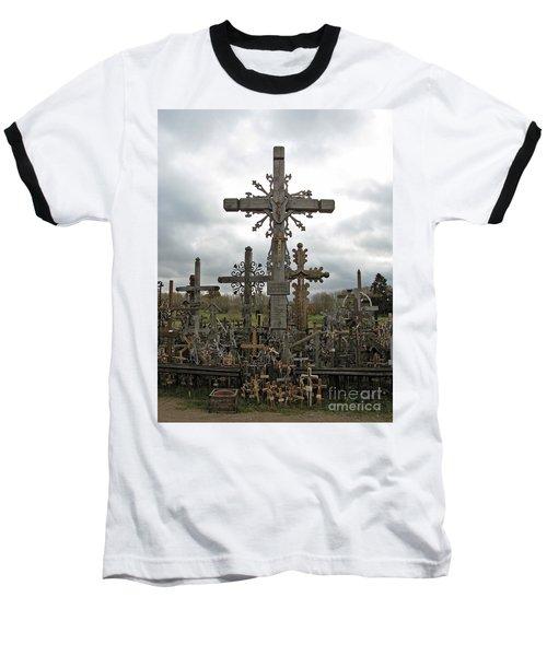 Hill Of Crosses 06. Lithuania.  Baseball T-Shirt by Ausra Huntington nee Paulauskaite