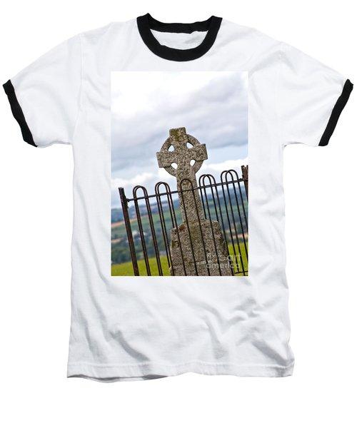 Hill Of Tara Celtic Cross Baseball T-Shirt