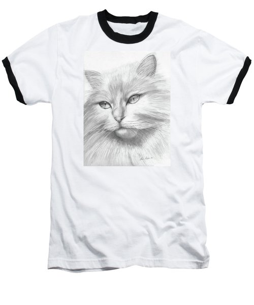 Himalayan Cat Baseball T-Shirt by Lena Auxier