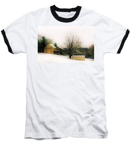 Baseball T-Shirt featuring the photograph Historic 1700's Farmhouse by Polly Peacock