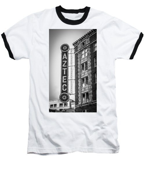 Historic Aztec Theater Baseball T-Shirt