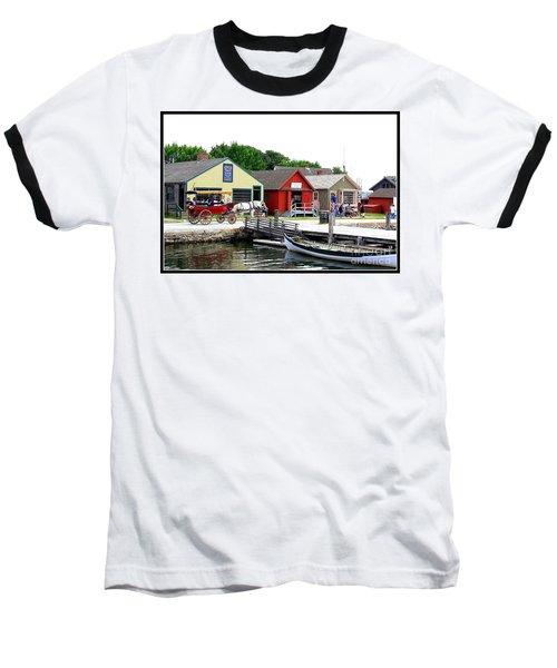 Historic Mystic Seaport Baseball T-Shirt by Dora Sofia Caputo Photographic Art and Design
