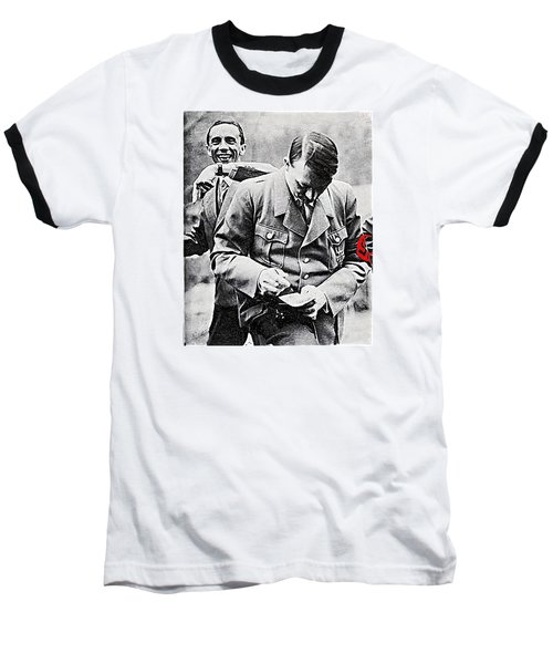 Hitler And Goebbels  As The German Chancellor Signs An Autograph  Baseball T-Shirt