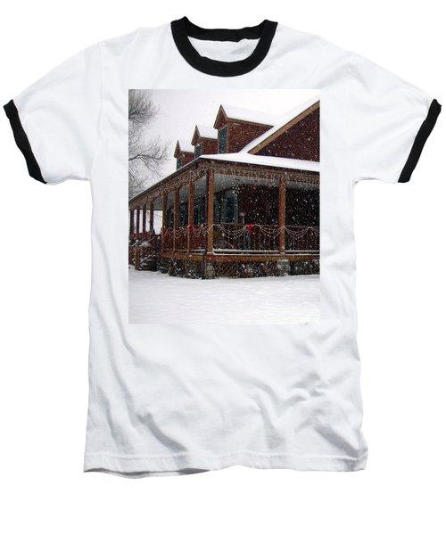 Holiday Porch Baseball T-Shirt