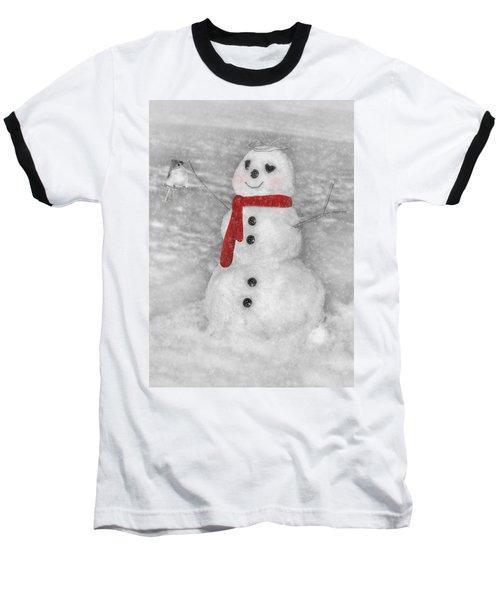 Holiday Snowman Baseball T-Shirt