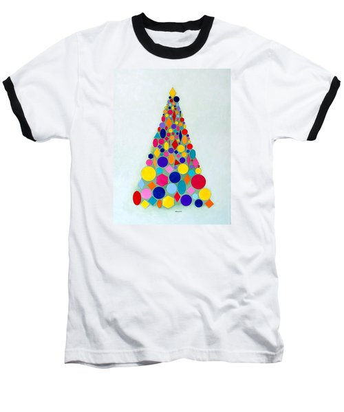 Holiday Tree #1 Baseball T-Shirt by Thomas Gronowski