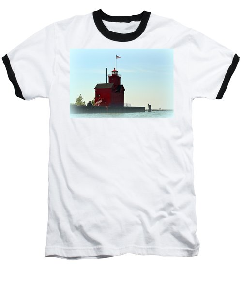 Holland Harbor Light Vignette Baseball T-Shirt