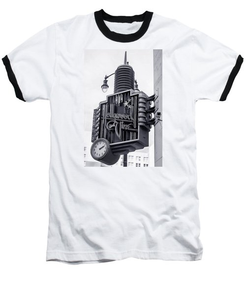 Hollywood Landmarks - Hollywood And Vine Sign Baseball T-Shirt by Art Block Collections