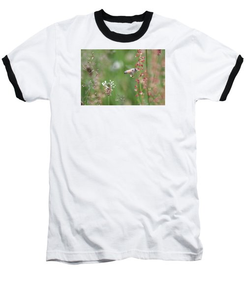 Honeybee Flying In A Meadow Baseball T-Shirt