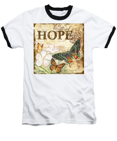 Hope And Butterflies Baseball T-Shirt