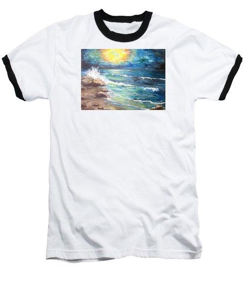 Baseball T-Shirt featuring the painting Horizons by Cheryl Pettigrew