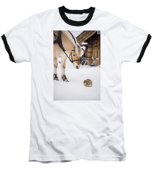 Horse And Rabbit Baseball T-Shirt