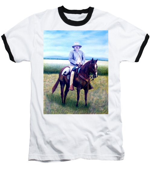 Horse And Rider Baseball T-Shirt by Stacy C Bottoms
