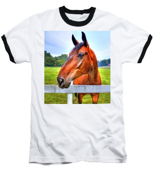 Horse Closeup Baseball T-Shirt