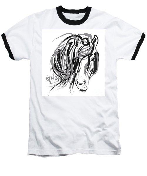 Horse- Hair And Horse Baseball T-Shirt by Go Van Kampen