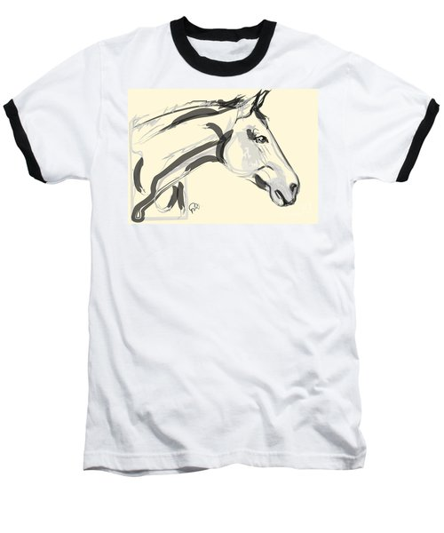 Baseball T-Shirt featuring the painting Horse - Lovely by Go Van Kampen