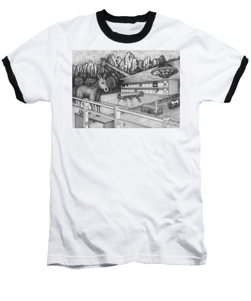 Horse Perspective Baseball T-Shirt