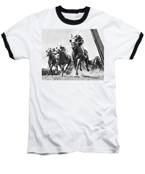 Horse Racing At Belmont Park Baseball T-Shirt