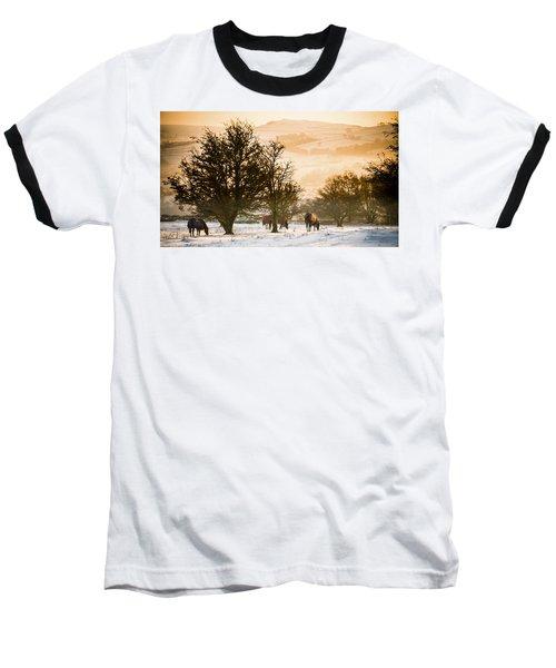Horses In The Snow Baseball T-Shirt