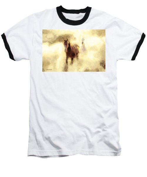 Horses Of The Mist Baseball T-Shirt by Greg Collins