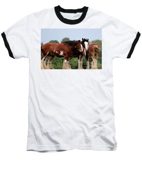 Horsie Huddle Baseball T-Shirt