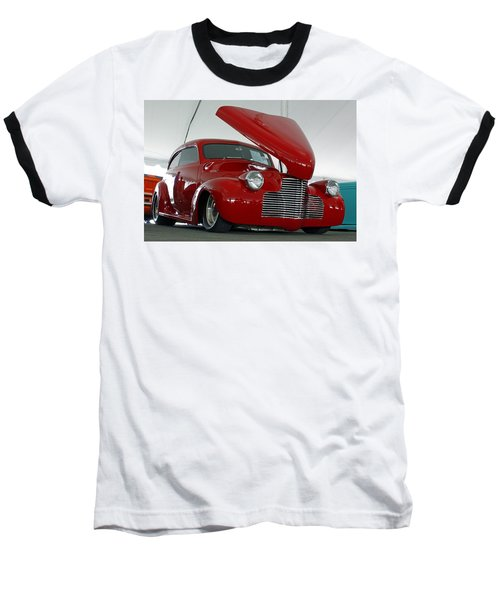 Baseball T-Shirt featuring the photograph Hot In Red by Shoal Hollingsworth