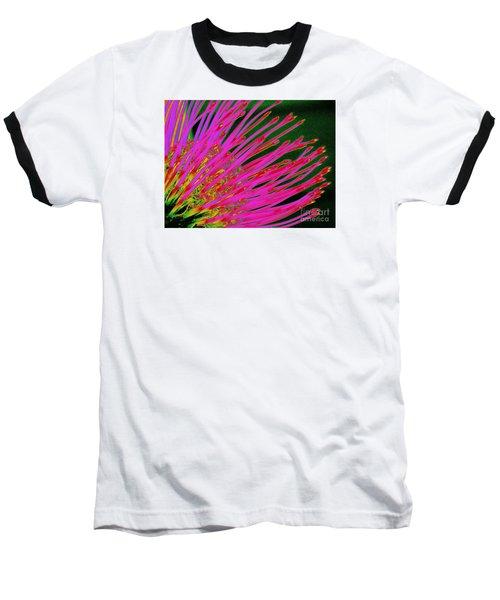 Hot Pink Protea Baseball T-Shirt by Ranjini Kandasamy