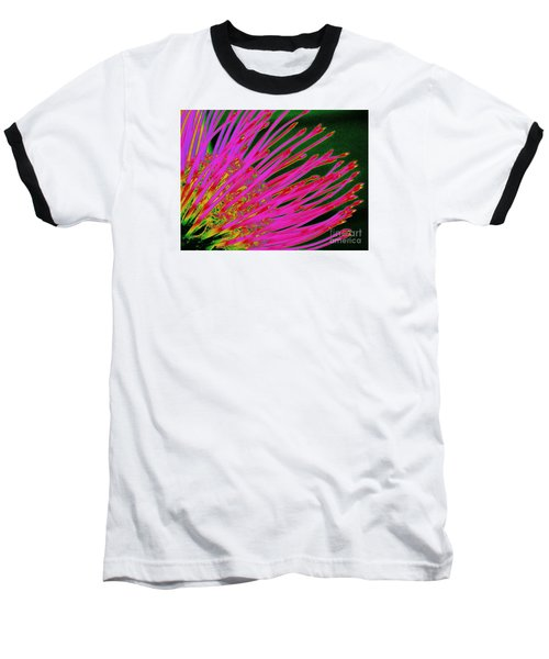 Hot Pink Protea Baseball T-Shirt