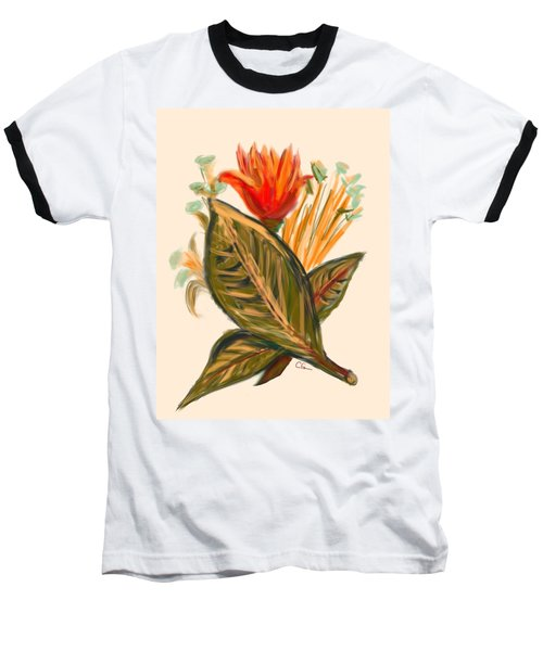 Baseball T-Shirt featuring the digital art Hot Tulip Spring by Christine Fournier